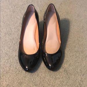 J Crew black wedge shoe
